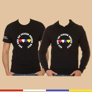 """T-Shirt / Hoodie Set """"Rot Weiß Blau Gelb"""""""