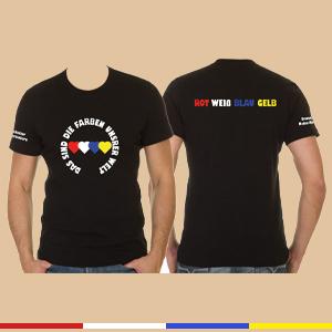 "T-Shirt ""Rot Weiß Blau Gelb"""